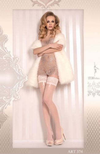 Faux suspender hold ups,  Ballerina